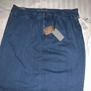 Melissa McCarthy Blue Jean Skirt Brand New